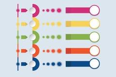 O vetor infographic colorido está mostrando o papel empilhado Imagens de Stock