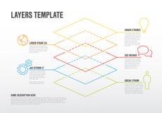O vetor Infographic mergulha o molde Imagens de Stock Royalty Free