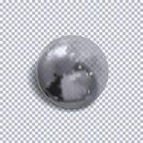 O vetor isolou a bolha transparente, ilustração realística, esfera monocromática ilustração do vetor