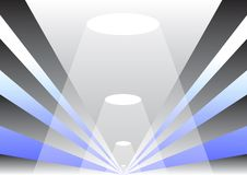 O vetor modela o corredor Imagens de Stock