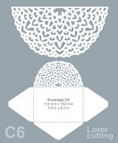 O vetor morre envelope do corte do laser Imagem de Stock