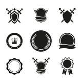 O vetor protege coroas e emblemas Imagem de Stock