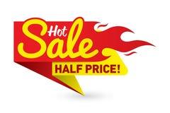O vetor quente do negócio da oferta do preço de venda etiqueta etiquetas dos moldes Fotografia de Stock Royalty Free
