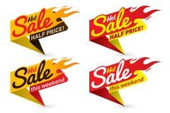 O vetor quente do negócio da oferta do preço de venda etiqueta etiquetas dos moldes Imagens de Stock