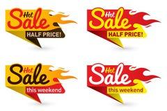 O vetor quente do negócio da oferta do preço de venda etiqueta etiquetas dos moldes Foto de Stock Royalty Free