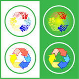 O vetor recicl ícones Imagens de Stock Royalty Free