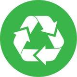 O vetor recicl o ícone Fotografia de Stock