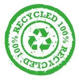 O vetor 100% recicla o selo ilustração royalty free
