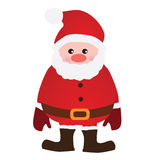 O vetor Santa Claus isolou-se Imagens de Stock Royalty Free
