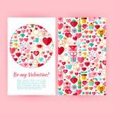 O vetor seja meu Valentine Banners Set Template Fotos de Stock Royalty Free