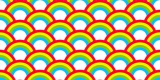 O vetor sem emenda do teste padrão do arco-íris isolou o fundo colorido do papel de parede do céu ilustração stock