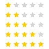 O vetor stars a avaliação Imagens de Stock Royalty Free