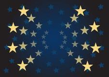 O vetor stars o fundo Imagens de Stock Royalty Free