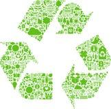 O vetor verde recicl o ícone ilustração do vetor