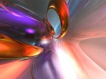 o vidro 3D abstrato colorido rende o fundo Fotografia de Stock