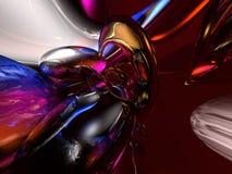o vidro 3D abstrato colorido rende o fundo Imagens de Stock