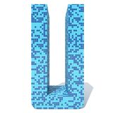 O vidro cerâmico do mosaico quadrado escuro claro azul telha a fonte Foto de Stock