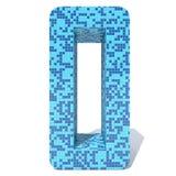 O vidro cerâmico do mosaico quadrado escuro claro azul telha a fonte Imagens de Stock