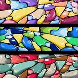 O vidro colorido abstrato apedreja o fundo do vetor Fotos de Stock Royalty Free