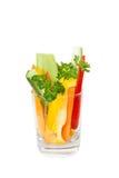 O vidro com os legumes frescos do corte Imagens de Stock Royalty Free