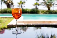 O vidro de Aperol Spritz Fotografia de Stock Royalty Free