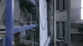 O vidro de janela e o vidro decorativo automatizaram a linha de produção video estoque