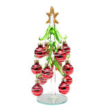 O vidro decorou a árvore de Natal Imagem de Stock