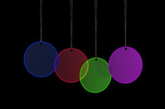 O vidro do cair etiqueta a decoração Imagens de Stock