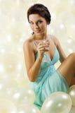 O vidro do champanhe Fotografia de Stock