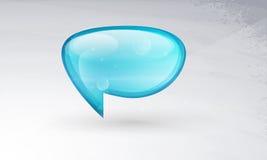 O vidro do vetor do ícone, um símbolo dos bornes, comenta. Foto de Stock