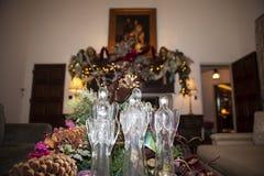 O vidro fez o anjo do Natal imagens de stock royalty free
