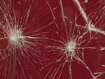 O vidro quebrado A textura das rachaduras branca e preta Foto de Stock
