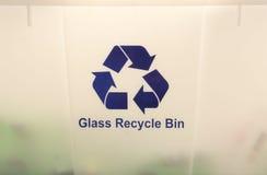 O vidro recicl o escaninho Imagens de Stock Royalty Free