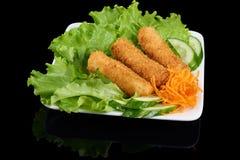 O vietnamita correu Nem rolos friáveis Fotografia de Stock