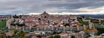O  vila de Ã, Espanha, murou a cidade Foto de Stock