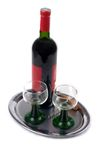 O vinho é serido Foto de Stock Royalty Free