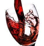 O vinho derrama Fotografia de Stock Royalty Free