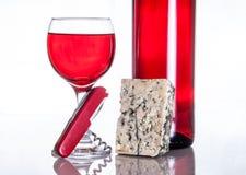 O vinho gourmet e janta Fotografia de Stock Royalty Free
