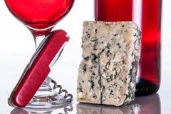 O vinho gourmet e janta Fotos de Stock Royalty Free