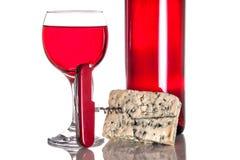 O vinho gourmet e janta Imagens de Stock
