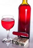 O vinho gourmet e janta Fotos de Stock
