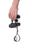 O vintage binocular equipa dentro a mão Foto de Stock