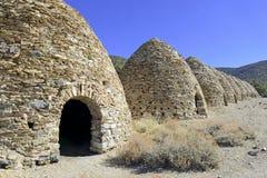O vintage, colmeia deu forma a estufas do carvão vegetal, parque nacional de Vale da Morte Foto de Stock