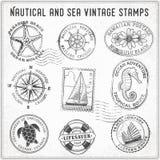 O vintage da viagem do mar do vetor carimba 2 Imagem de Stock Royalty Free