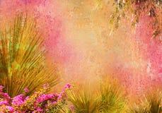 O vintage denominou o frame floral Foto de Stock Royalty Free