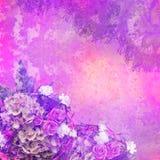 O vintage denominou o frame floral Fotos de Stock Royalty Free