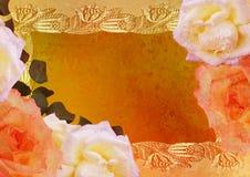 O vintage denominou o frame - rosas Foto de Stock