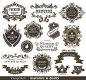 O vintage denominou a qualidade e a satisfação superiores Gu Imagem de Stock Royalty Free