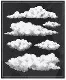 O vintage do quadro nubla-se o fundo Foto de Stock