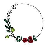 O vintage do vetor floral envolve-se Frame floral Imagem de Stock